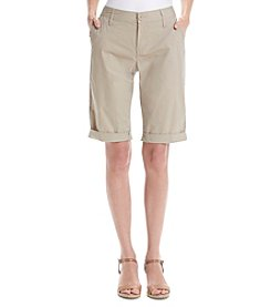 DKNY JEANS® Poplin Bermuda Shorts