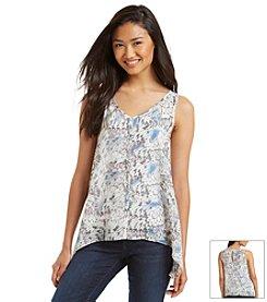 DKNY JEANS® Tonal Butterfly Print Shirt
