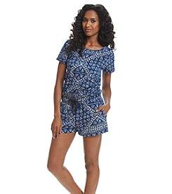 DKNY JEANS® Batik Print Romper