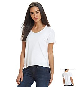 MICHAEL Michael Kors® Mesh Panel Top