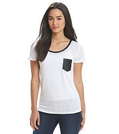 MICHAEL Michael Kors® Leather Trim Tee