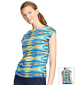 Lauren Active Ikat-Print Cotton Tee
