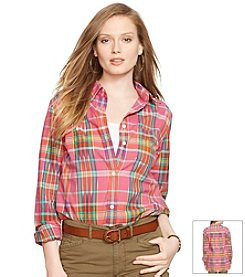 Lauren Jeans Co.® Plaid Boyfriend Shirt