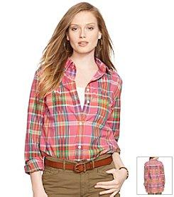 Lauren Jeans Co.® Plaid Boyfriend Shirt
