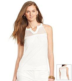 Lauren Ralph Lauren® Lace-Trimmed Jersey Tank