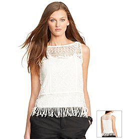Lauren Ralph Lauren® Crocheted Cotton Top
