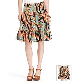 Lauren Ralph Lauren® Printed Tiered Skirt