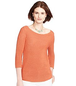 Lauren Ralph Lauren® Cropped-Sleeve Knit Sweater