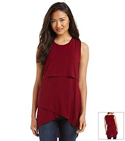 Relativity® Hi Low Tiered Tunic Tank