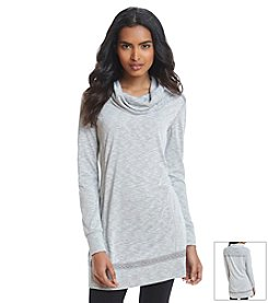Relativity® Cowl Neck Lace Tunic