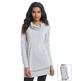 Relativity® Cowl Neck Lace Tunic