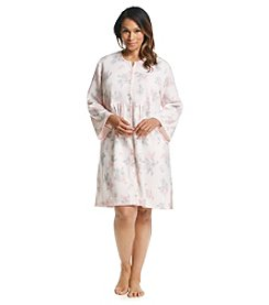 Miss Elaine® Plus Size Button Front Robe