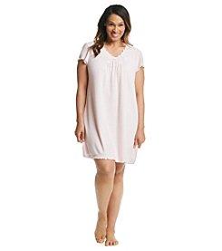 Miss Elaine® Plus Size Short Sleeve Waffle Gown