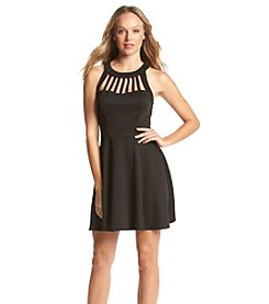 Trixxi® Cage Front Skater Dress
