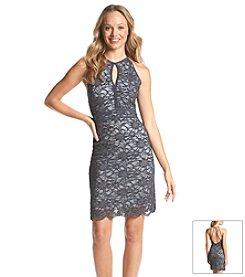 Morgan & Co.® Roller Glitter Lace Dress
