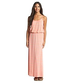 Wallflower® Striped Blouson Maxi Dress