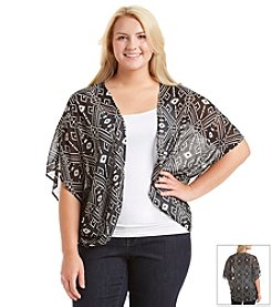 Eyeshadow ® Plus Size Geo Print Kimono Cardigan