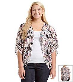 Eyeshadow® Plus Size Geo Print Kimono Cardigan