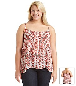 Living Doll® Plus Size Chiffon Tiered Cami
