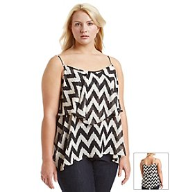 Living Doll® Plus Size Chevron Ruffle Cami