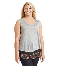Living Doll® Plus Size Layered Look Ruffle Bottom Tank