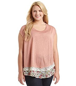 Living Doll® Plus Size Layered Look Ruffle Bottom Tee