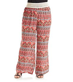 Living Doll® Plus Size Printed Palazzo Pants