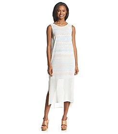 Kensie® Chiffon Overlay Reverse Dress