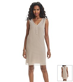 S.L. Fashions Jeweled Shift Dress