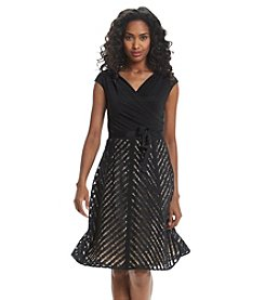 S.L. Fashions Lace Fit And Flare Dress