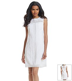 Adrianna Papell® Eyelet Swing Dress