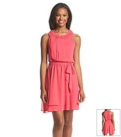 Jessica Simpson Chiffon Halter Dress
