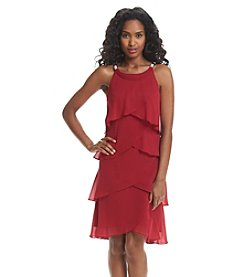 S.L. Fashions Tiered Shutter Dress