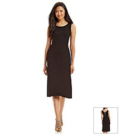 Carmen Marc Valvo Tie Back Midi Dress