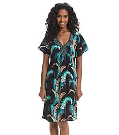 Adrianna Papell® Embellished Tropical Caftan Dress