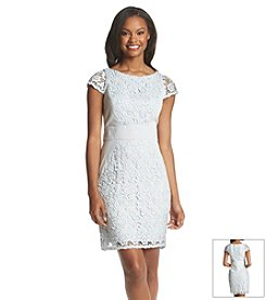 Jessica Simpson Crochet Overlay Dress