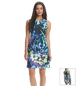 Vince Camuto® Floral Scuba Tank Dress