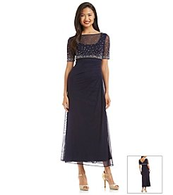 Alex Evenings® Jeweled Mesh Gown
