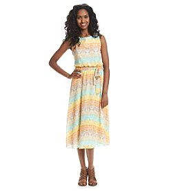 Prelude® Multi Stripe Chiffon Maxi Dress