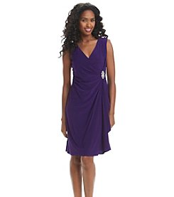 R&M Richards® Broach Drape Dress