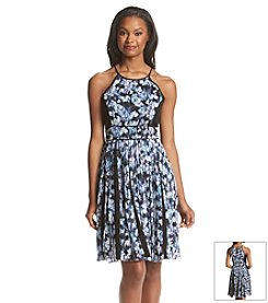 Jessica Simpson Pleated Floral Dress