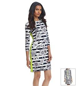Eliza J® Floral Striped Dress