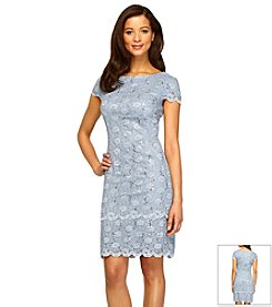 Alex Evenings® Tiered Sequin Lace Sheath Dress