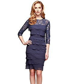 Alex Evenings® Tiered Lace Dress