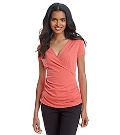 Anne Klein® Wrap Top