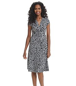 Anne Klein® Dot Print Dress