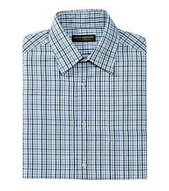John Bartlett Statements Men's Check Spread Collar Button Down Dress Shirt