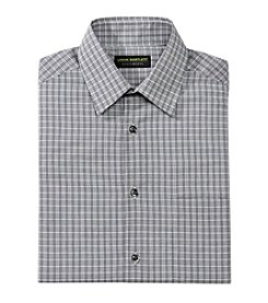 John Bartlett Statements Men's Grid Spread Collar Button Down Dress Shirt