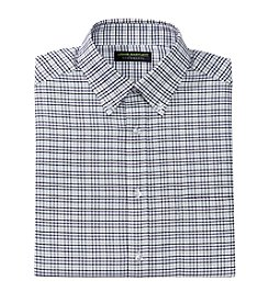 John Bartlett Statements Men's Check Oxford Button Down Dress Shirt