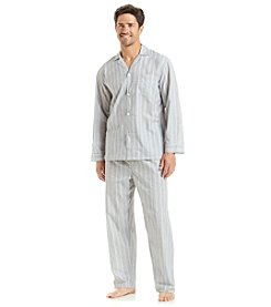 Geoffrey Beene® Men's Long Sleeve Stripe Pajama Set